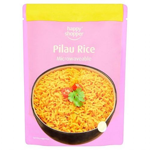 Happy Shopper Pilau Rice Microwaveable 250g (UK)